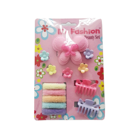 Hair Accessories Set With Display Box, Blue 08