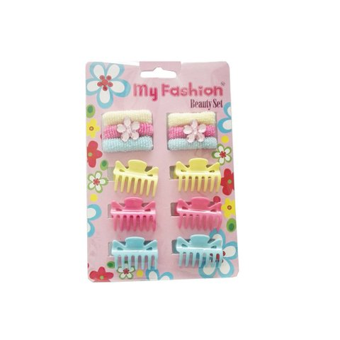 Hair Accessories Set With Display Box, Blue 09