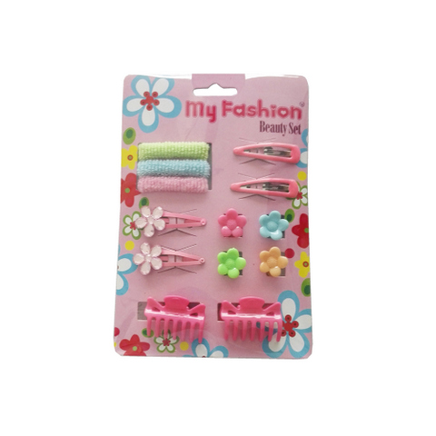 Hair Accessories Set With Display Box, Blue 10