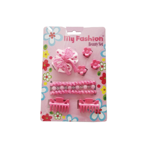 Hair Accessories Set With Display Box, Blue 11