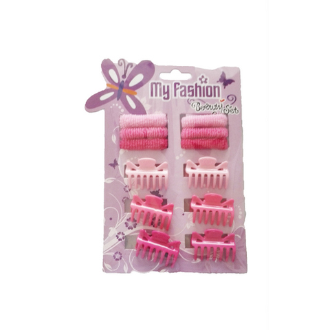 Hair Accessories Set With Display Box, Purple 1