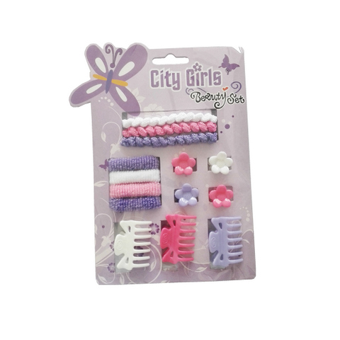 Hair Accessories Set With Display Box, Purple 3