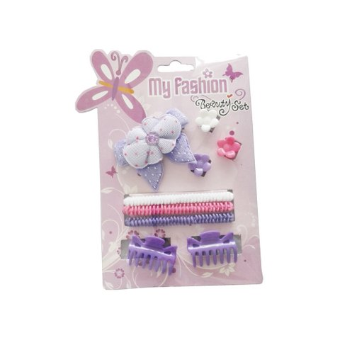 Hair Accessories Set With Display Box, Purple 5