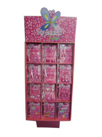Kids Hair Accessories Set With Display Box Pink