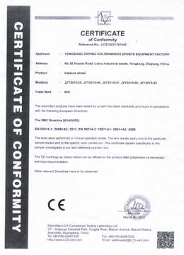 CE for Electric Balance Board