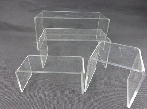 Clear acrylic display plinth for wholesale in Yiwu market, China