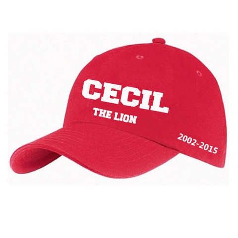 cecil the lion hat red