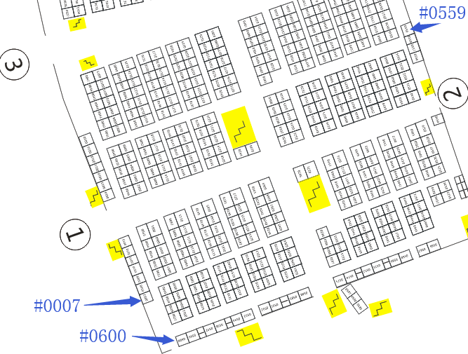 Floor plan of artificial flowers market in Yiwu China (part 1)