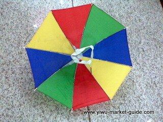 head umbrella wholesale in Yiwu market