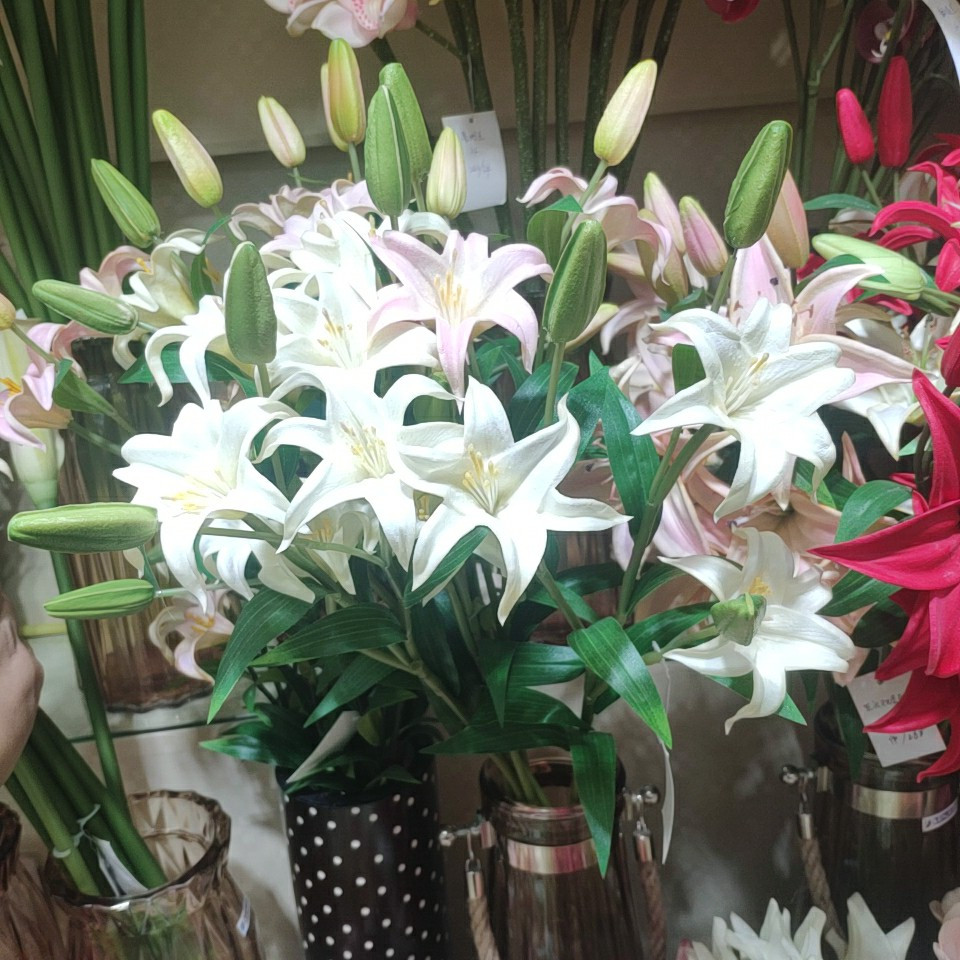 Lily flowers real touch (PU), Yiwu China 1