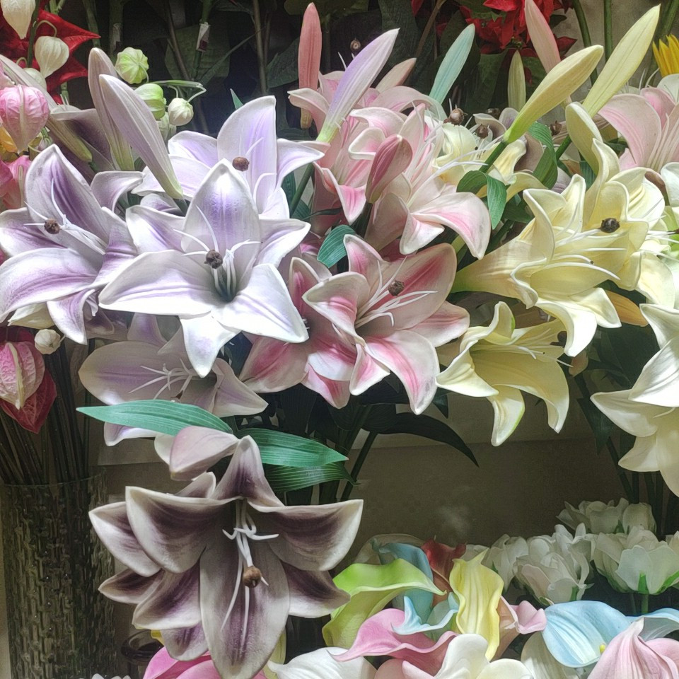 Lily flowers real touch (PU), Yiwu China 2