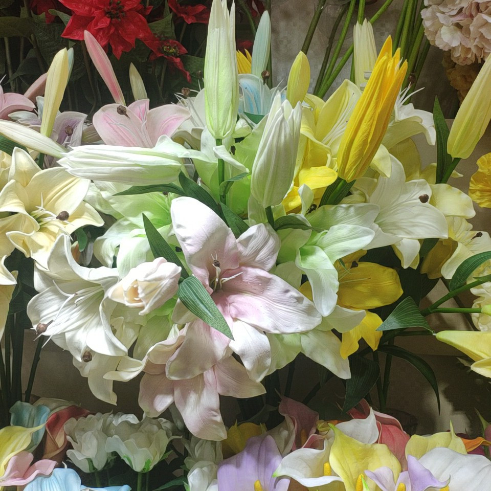 Lily flowers real touch (PU), Yiwu China 3