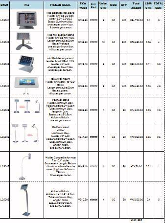 Price List for Ipad Display Stand for indoor quiz / feedback