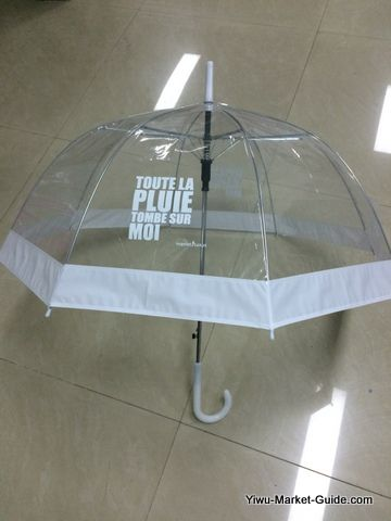 promotional bell umbrella with logo printing