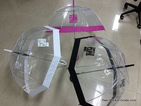 promotional clear bell umbrella
