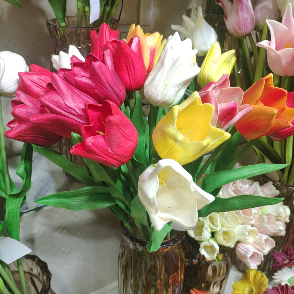 tulips real touch (PU), Yiwu China 4