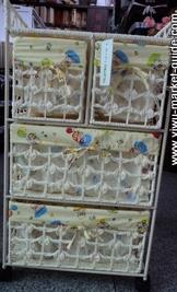 white storage baskets