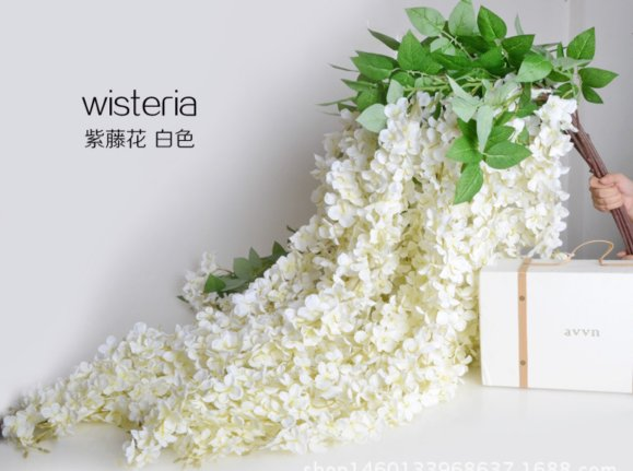 Wisteria Artificial Flowers Wholesale in Yiwu, China