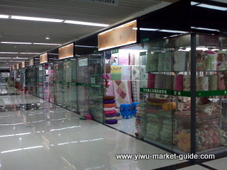 Yiwu bedding and home textile maket