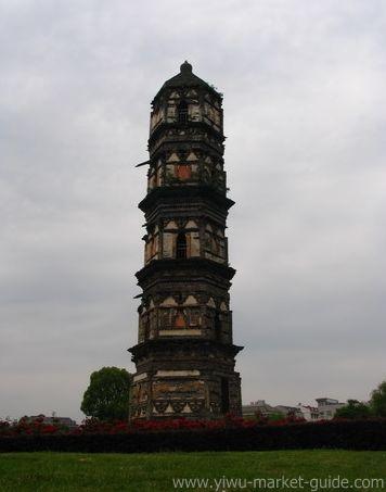 Symbol of Yiwu - Da An Si Pagoda