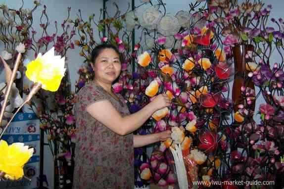 yiwu flowers wholesaler